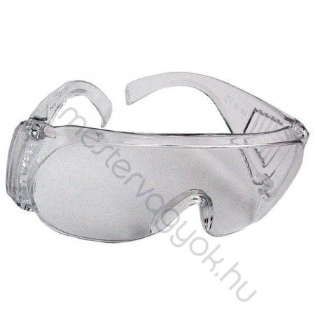 Védőszemüveg, látogató szemüveg víztiszta műanyagból
