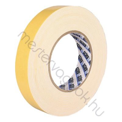Kétoldalas habosított ragasztószalag 19mmx10m/tekercs, UV stabil hőálló