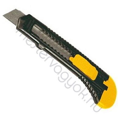 Kés műanyagház 18mm-es törhető pengével, univerzális