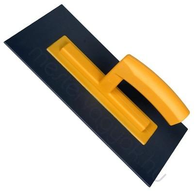 Műanyag simító, glettelő 280x140mm 3mm vastag lap, műanyag nyél és lap