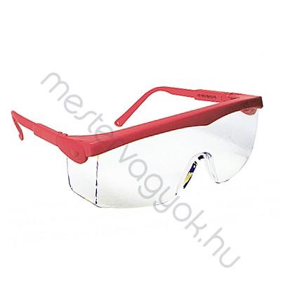 Védőszemüveg Pivolux 60320, piros keret víztiszta lencsével