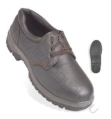 Munkavédelmi cipő Porthos (S1P), fekete bőr