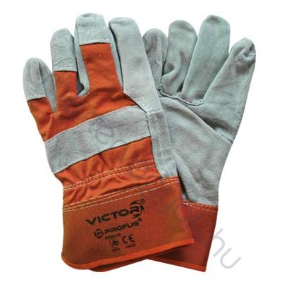 Munkavédelmi profi rakodókesztyű hasított bőrből és erős vászonból (EN388:03, 3244)