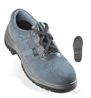 Munkavédelmi cipő Sun (S1P), kékesszürke velúrbőr