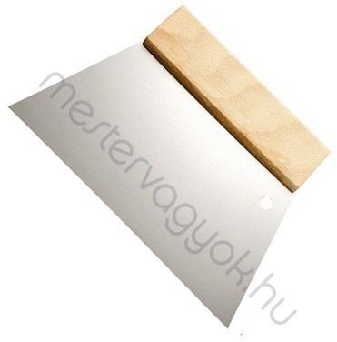 Trapéz spatulya sima éllel 18cm széles fa markolatos